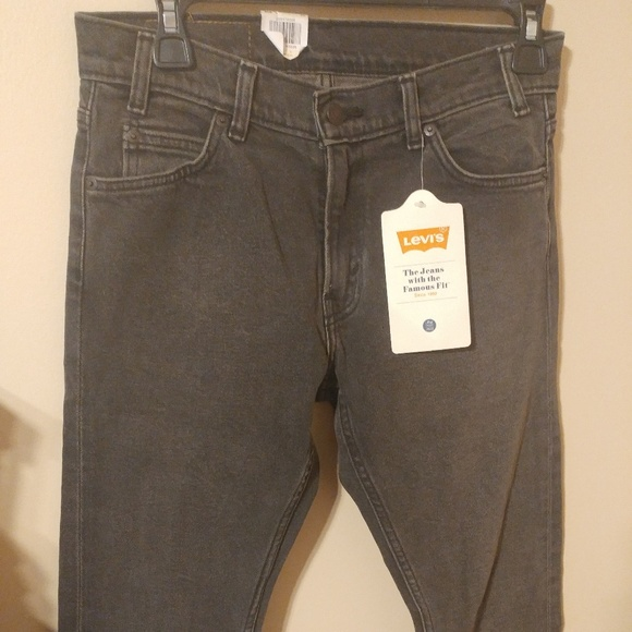 Levi's Levis 505 Cropped Gray Wash Jeans Tag 26